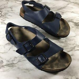 Birkenstock Blue Open Toe Milano Casual Sandals